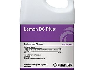 Brighton Professional lemon DC Plus Disinfectant Cleaner  lemon Scent  1 gal   BPR045001 A 185
