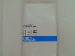 Super Soft Vinyl Shower liner   White