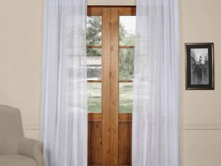 Exclusive Fabrics   Furnishings Solid Sheer 50  x 108  Curtain Panel