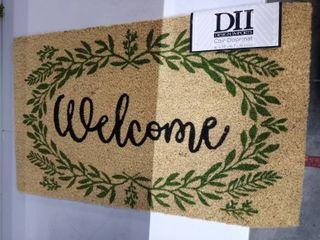 DII Greenery Welcome Doormat  18x30x0 5