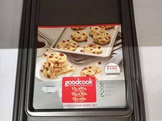 3pc cookie sheet set