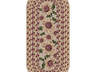 Brumlow Mills Sunflower Braid Kitchen Rug  20 Inch by 44 Inch  Sunset