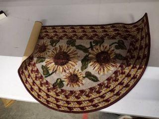Sunflower Sunset Kitchen Sink Floor Mat
