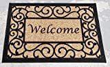 Ottomanson Welcome Non Slip Floral Indoor Door Mat