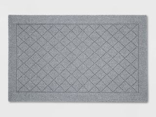 2 6X4  Tufted And looped Accent Rug Diamond Grey   Threshold  Gray