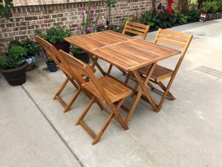 International Caravan Royal Fiji Acacia Folding Chairs (set of 2)(Table NOT Included)