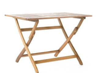 Positano Outdoor Acacia Wood Folding Dining Table by Christopher Knight Home  Retail 149 99