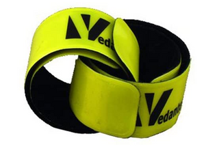 Vedante Super Reflective Pop Bands In Sustainable Packaging  pair  Yellow