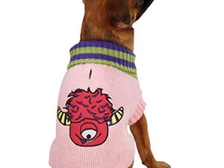 Casual Canine lil Monste Pet Sweater Small Medium Pink