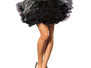 Ursula Petticoat  Black  Adult   Osfm
