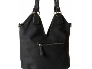 Mg Collection Modern Black Designer Bag