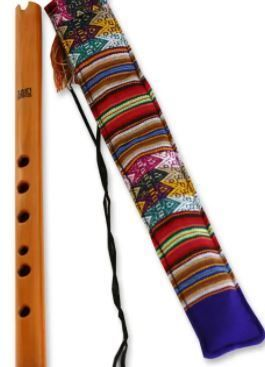 Beautiful Handmade Colorful Wood Quena Peace Flute plus Handmade bag