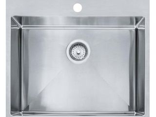 Franke Fast in 25 5 in x 22 5 in Stainless Steel 1 Stainless Steel Drop in or Undermount 1 Hole Commercial Residential Kitchen Sink
