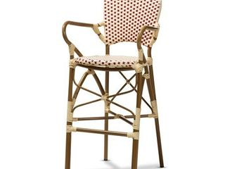 Indoor and Outdoor Stackable Bar Stool by Baxton Studio  Retail 154 49