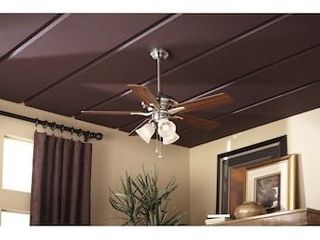 Harbor Breeze 42 in Brushed Nickel led Indoor Ceiling Fan W  light Kit  5 blade
