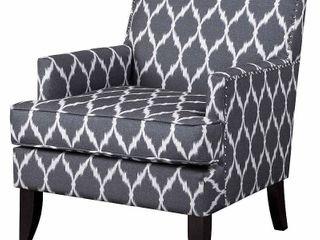 Madison Park Charlie Grey/ White Track Arm Club Chair Retail:$275.49