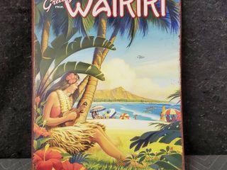 12in X 16in Vintage Hawaiian Metal Sign   Aloha Hawaii By Kerne Erickson