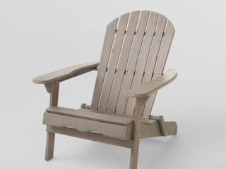 Hanlee Rustic Acacia Wood Folding Adirondack Chair by Christopher Knight Home  Retail 153 99
