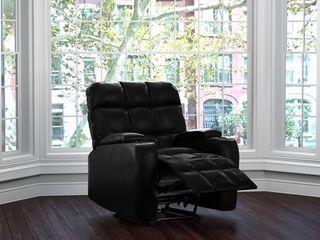 Prolounger Power Wall Hugger Storage Recliner Chair Black Renu leather  Retail 531 99