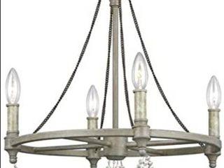 Oaksdecor rustic five light chandelier