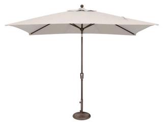 Hapuna White Rectangle Push Button Outdoor Umbrella No Base