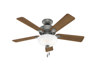44in Swanson Ceiling Fan in Matte Silver with lED light Kit
