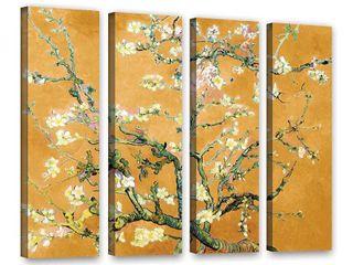Art Wall Vincent van Gogh  3 Piece Almond Blossom Interpretation in Marigold Orange  gallery wrapped  Retail 135 99