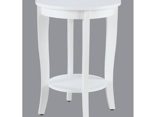 Convenience Concepts American Heritage Round End Table  White