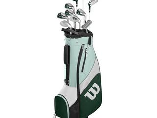Wilson Golf Profile SGI Teal Women s Golf Complete Set w  Cart Bag  Petite  Right Handed