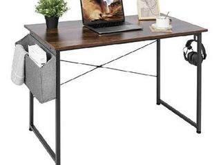 Cubiker Writing Computer Desk 39  Home Office Study Desk  Modern Simple Style laptop Table  Espresso