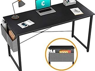 Cubiker Computer Desk 47  Home Office Writing Study Desk  Modern Simple Style laptop Table with Storage Bag  Espresso