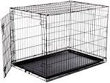 AmazonBasics Single Door Folding Metal Dog or Pet Crate Kennel with Tray  42 x 28 x 30 Inches