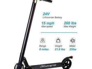 RND Electric Scooter for Adults Folding Commuting Scooter 8 Mile long Range with Explosion Proof Tire  E ABS Disc Dual Brake  250W Motor Max Speed 15Mile H  Max Weight 260lbs  Black1