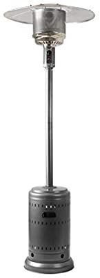 AmazonBasics Commercial  Propane 46 000 BTU  Outdoor Patio Heater with Wheels  Slate Gray