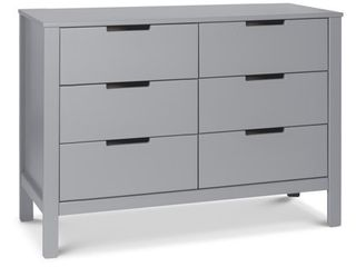 Carter s by Davinci Colby 6 Drawer Dresser in Grey