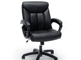 OFM Essentials Collection Executive Office Chair  Black with Black Frame