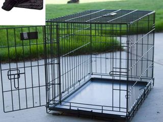 Xl Dog Crate   MidWest ICrate Folding Metal Dog Crate w  Divider Panel  Floor Protecting Feet   leak Proof Dog Tray   48l x 30W x 33H Inches  Xl Dog Breed  Black