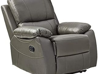 Homelegance Greeley Manual Reclining Chair  Gray Genuine leather