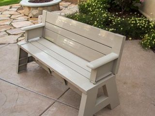 Premiere Products 5RCATA Tan Convert A Bench  Approximate Size  Table 27  H x 14  D 31  H x 58  l Seat 17  H x 14  D Weighs 38 lbs