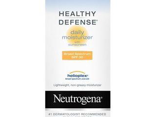 Neutrogena Healthy Defense Daily Broad Spectrum SPF 30 Sunscreen Moisturizer  1 7 oz Exp 08 12