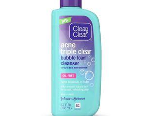 Clean   Clear Acne Triple Clear Bubble Foam Face Cleanser  5 7 fl  oz