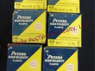 6   boxes Peters 410 ga 3  7 1 2 shot  See pics
