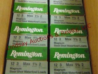 1 case  10 boxes  Remington 12 ga mag 3  2 shot