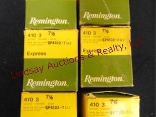6   boxes Rem Express 410 ga 3  7 1 2 shot  See
