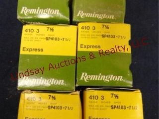 6   boxes Rem Exp 410 ga 3  7 1 2  shot  See pics