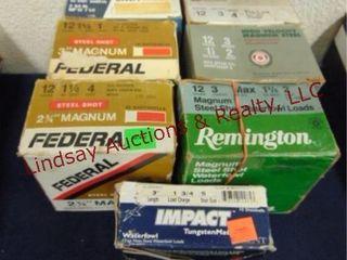 7   boxes  mix brand  12 ga 2 3 4    3  mag mixed