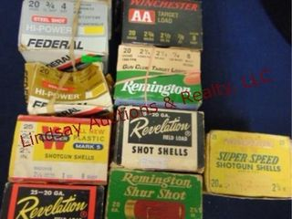 11   boxes 20 ga mixed loads   brands  partial