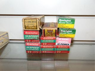 10   50 rd boxes of 22 cal short   lR  2 boxes are