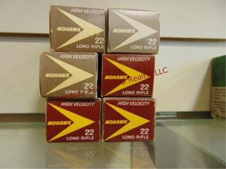 6   boxes 300 rds Mohawk 22 lR ammo