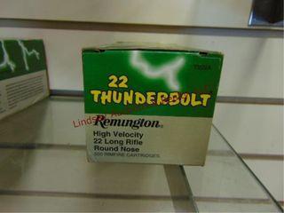500 cartridges Rem Thunderbolt 22 lR